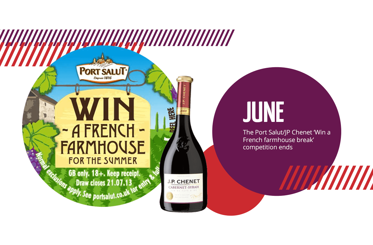 June: The Port Salut/JP Chenet 'Win a French farmhouse break' competition ends