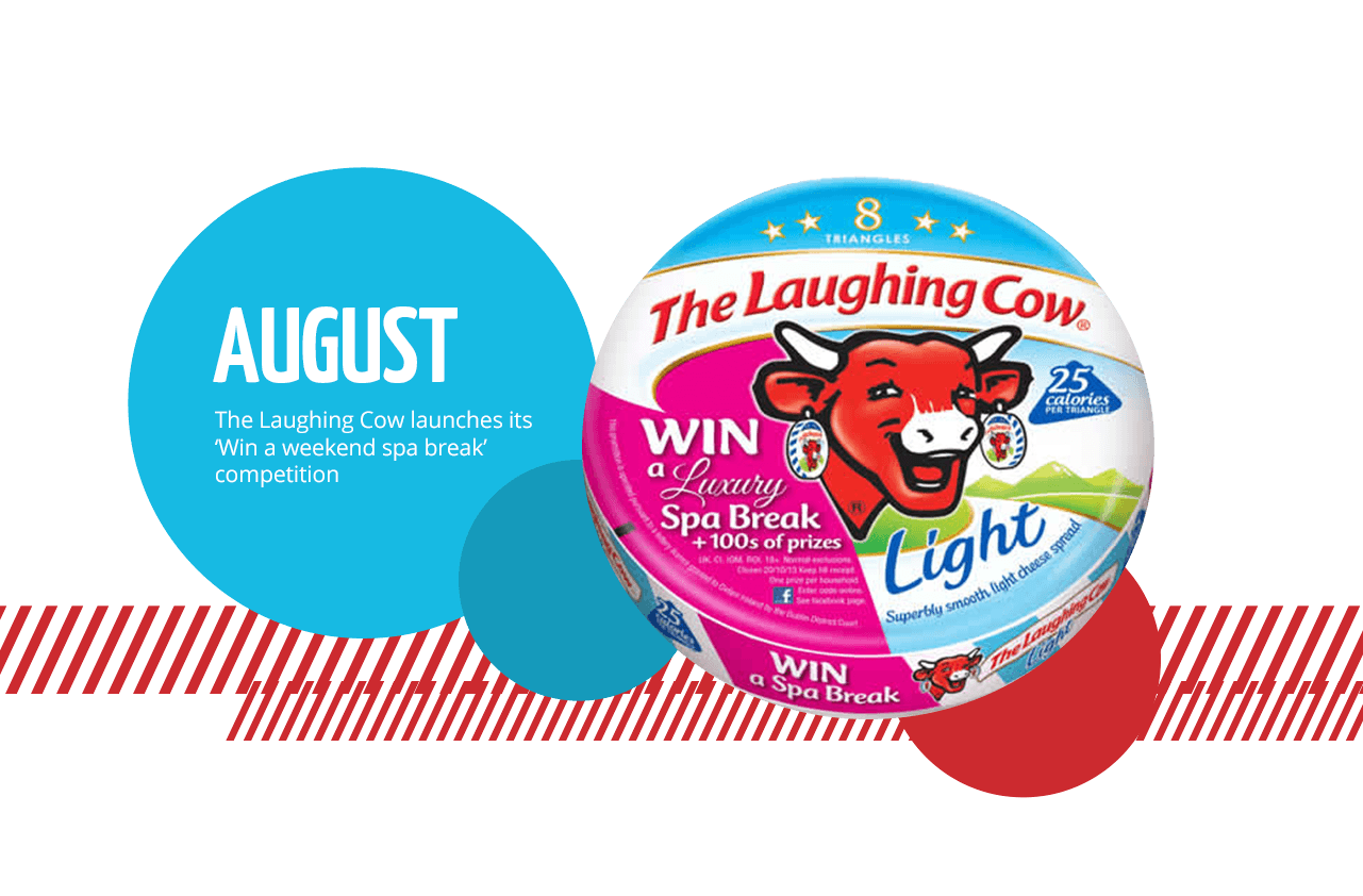August: The Laughing Cow launches its 'Win a weekend spa break' competition