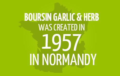Boursin Garlic & Herb was created in 1957 in Normandy