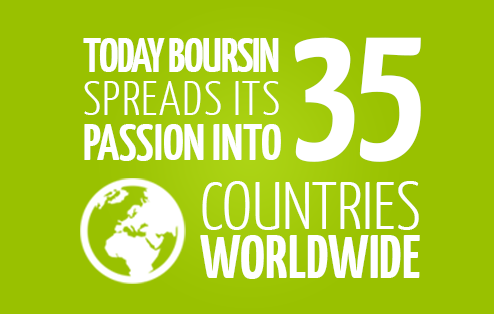 Today Boursin spreads its passion into 35 countries worldwide
