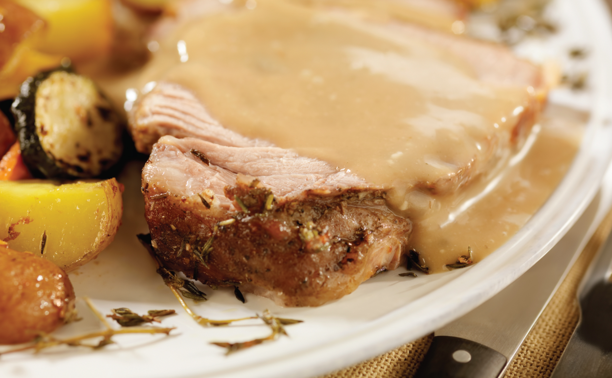 Pork in a Creamy Mustard Sauce Recipe