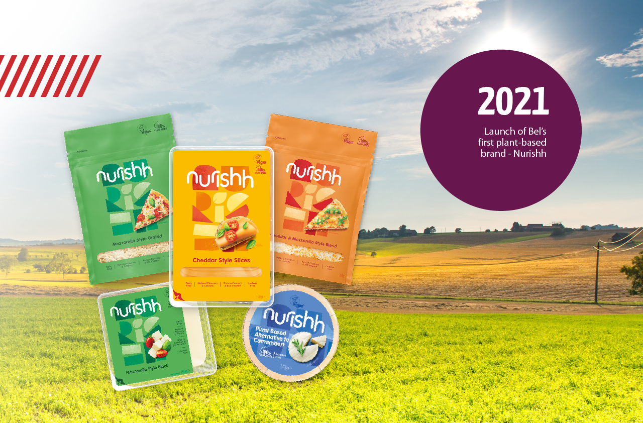 2021: Launch of Nurishh - Bel's first plant-based brand.